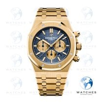 Audemars Piguet Royal Oak Chronograph Or jaune 41mm Bleu Sans chiffres