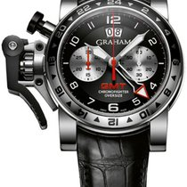 Graham Chronofighter Oversize 2OVGS.B39A New Steel 60.5mm Automatic