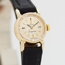 Omega De Ville Ladymatic Yellow gold 16mm Silver No numerals