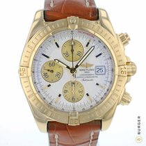 Breitling Chronomat Evolution Oro amarillo 44mm Plata Arábigos