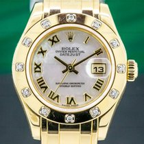Rolex Lady-Datejust Pearlmaster Yellow gold 29mm Roman numerals