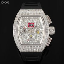 Richard Mille White gold Automatic Silver No numerals 44mm new RM 011
