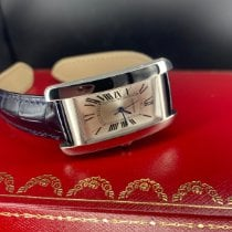 Cartier Tank Américaine Stål 41.6mm Sølv Romertal