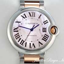 Cartier Ballon Bleu 36mm Сталь 36mm Перламутровый Римские