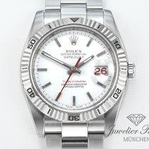 Rolex Datejust Turn-O-Graph Guld/Stål 36mm Vit Inga siffror
