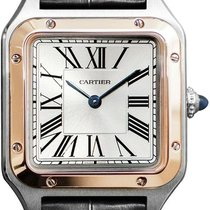 Cartier Santos Dumont new 2021 Quartz Watch with original box and original papers W2SA0012