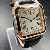 Cartier Сталь Кварцевые Cеребро Римские 43.5mm новые Santos Dumont