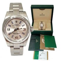 Rolex Automatic Silver 26mm pre-owned Oyster Perpetual 26