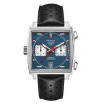 TAG Heuer Monaco Calibre 11 Steel 39mm Blue No numerals Singapore