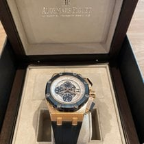 Audemars Piguet Royal Oak Offshore Chronograph Or rose 44mm Blanc Sans chiffres