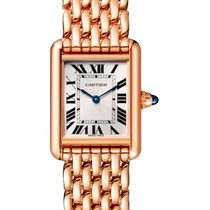 Cartier Rose gold Manual winding Silver 29.5mm new Tank Louis Cartier