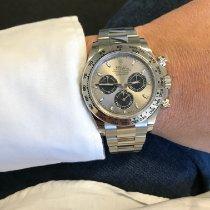 Rolex Daytona White gold 40mm Silver No numerals