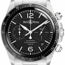 Bell & Ross BR V2 new Automatic Chronograph Watch with original box and original papers BRV294-BL-ST/SST