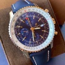 Breitling Navitimer GMT Stahl 46mm Blau