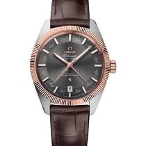Omega Rose gold Automatic Grey No numerals 41mm new Globemaster