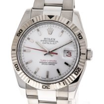 Rolex Datejust Turn-O-Graph Otel 36mm Alb Fara cifre