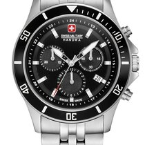 Swiss Military Acier 42mm Quartz 06-5331.04.007 Swiss Military Hanowa Flagship Chrono II nouveau