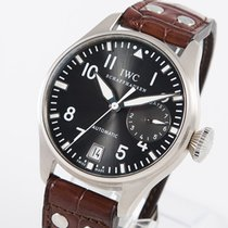 IWC White gold Automatic Grey Arabic numerals 46,2mm pre-owned Big Pilot