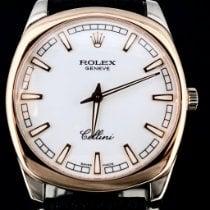 Rolex Cellini Danaos Bjelo zlato 38mm Bjel Bez brojeva