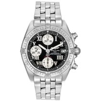 Breitling Chrono Cockpit Steel 39mm Black Roman numerals United States of America, New York, Greenvale