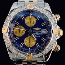 Breitling Chronomat Evolution Or/Acier 44mm Bleu Sans chiffres