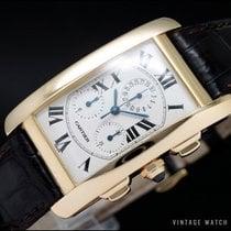 Cartier Tank Américaine Gult guld 26.5mm Sølv Romertal