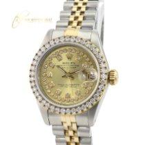Rolex Lady-Datejust rabljen 26mm Zlatan Datum, nadnevak Zlato/Zeljezo
