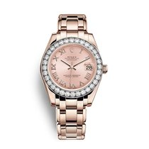 Rolex Pearlmaster Rose gold 34mm Pink Roman numerals