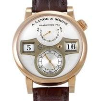 A. Lange & Söhne Zeitwerk Rose gold 41.9mm Silver (solid) Arabic numerals