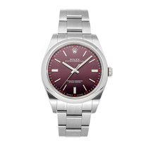 Rolex Oyster Perpetual 39 Steel 39mm Red No numerals