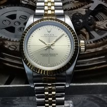 Rolex Oyster Perpetual Gold/Steel 26mm Champagne No numerals Malaysia