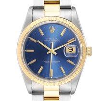 Rolex Oyster Perpetual Date Or/Acier 34mm Bleu