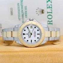 Rolex Yacht-Master occasion 35mm Blanc Date Or/Acier