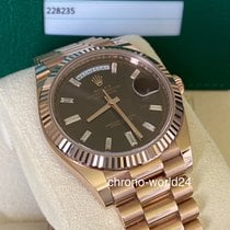 Rolex Day-Date 40 Oro rosa 40mm Marrón Romanos