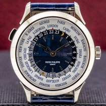 Patek Philippe World Time White gold 38.5mm Blue United States of America, Massachusetts, Boston