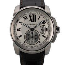 Cartier Calibre de Cartier Stahl 42mm Weiß Römisch Schweiz, Zug