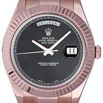 Rolex Day-Date II Oro rosa 41mm Nero Arabo