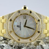 Audemars Piguet Royal Oak Lady tweedehands 33mm Parelmoer Datum Geelgoud