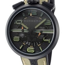 Bomberg new Quartz Small seconds PVD/DLC coating 45mm Steel Sapphire crystal
