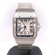 Cartier Santos Galbée 35mm Srebrny