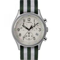 Timex Alluminio Quarzo Bianco Arabo 40mm nuovo