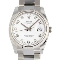 Rolex Oyster Perpetual Date Steel 34mm White Singapore, Singapore