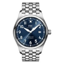 IWC Pilot Mark Steel 40mm Blue Arabic numerals United States of America, New York, New York