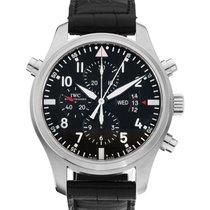 IWC Pilot Double Chronograph nuevo 2019 Automático Reloj con estuche y documentos originales IW377801