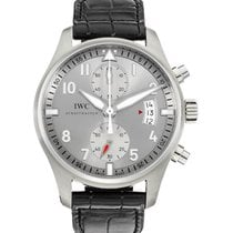 IWC Pilot Spitfire Chronograph Steel 43mm Silver Arabic numerals United States of America, New York, New York