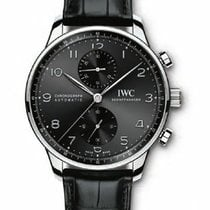 IWC Portuguese Chronograph Steel 41mm Black Arabic numerals United States of America, New York, New York