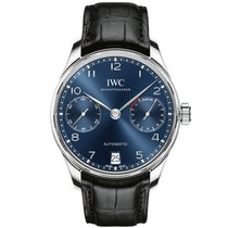 IWC Portuguese Automatic Steel 42mm Blue Arabic numerals United States of America, New York, New York