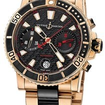 Ulysse Nardin Maxi Marine Diver Rose gold 42.7mm Black