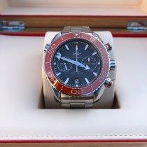 Omega Seamaster Planet Ocean Chronograph gebraucht 45.5mm Grau Chronograph Datum Stahl