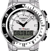 Tissot Sea-Touch Staal 44mm Zwart